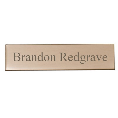 Polished Brass Engraving Plate 1/2 x 2
