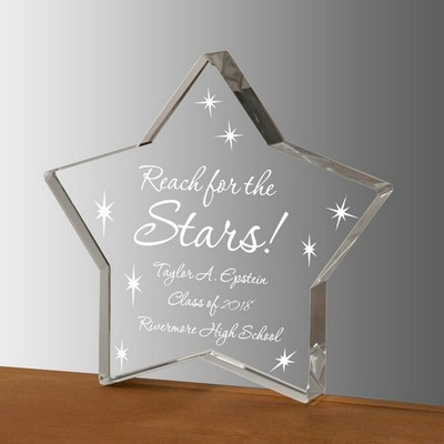 Reach for the Stars Crystal Star Keepsake