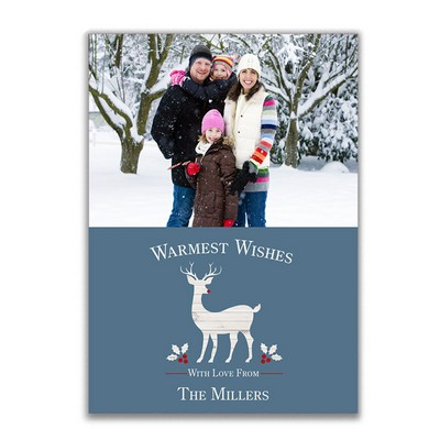 Reindeer Family Photo Holiday Card
