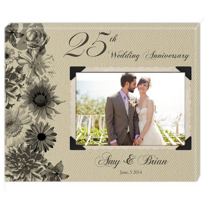Romantic 25th Anniversary Personalized Photo Wall Canvas