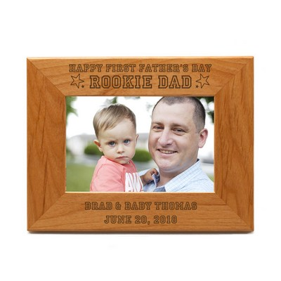 5x7 Rookie Dad Personalized Frame