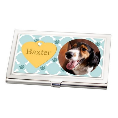 Dog Photo Business Card Holder