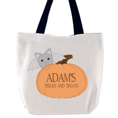 Personalized Tricks and Treats Halloween Tote Bag