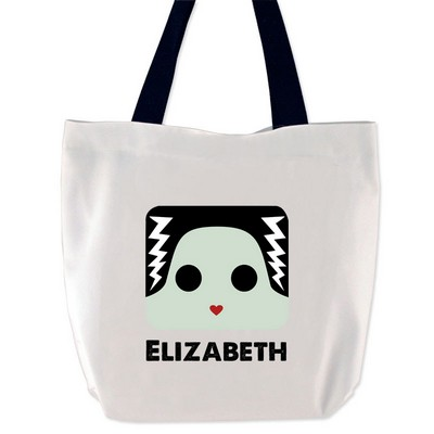 Personalized Bride of Frankenstein Tote Bag