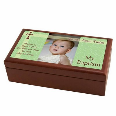 Personalized Baptism Keepsake Photo Box