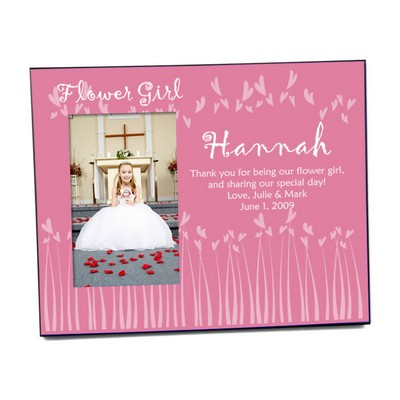 Flower Girl Fluttering Hearts Photo Frame