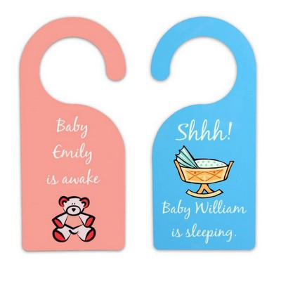 Sleeping Awake Baby Door Hanger
