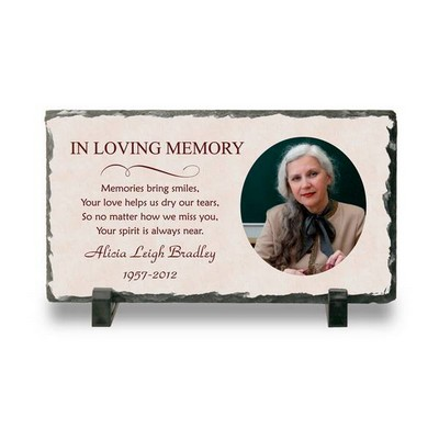 Personalized Memorial Photo Stone Plaque