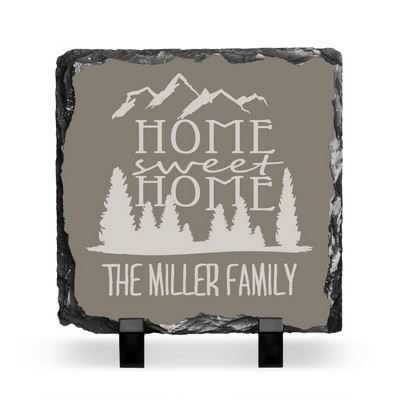 Personalized Home Sweet Home Slate Plaque