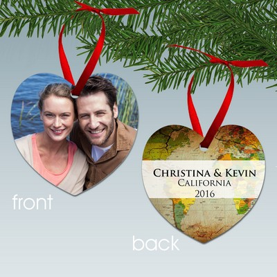 Personalized Travelers Photo Ornament