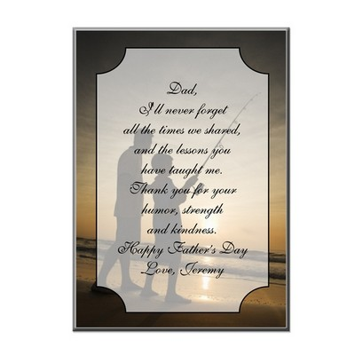 Thank You Dad Personalized Desk Plaque with Easel