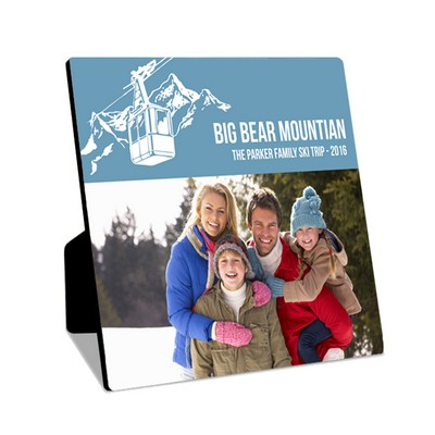 Personalized Family Ski Trip Photo Desk Plaque