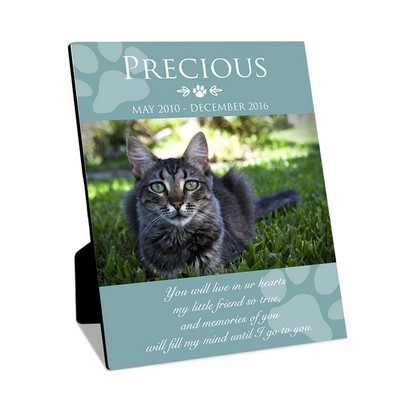 Personalized 8x10 Cat Memorial Photo Panel with Easel