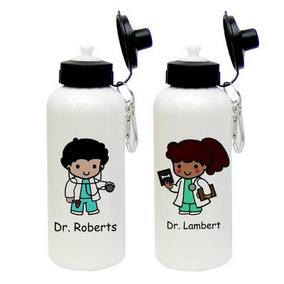 Custom Character Doctor Aluminum Water Bottle