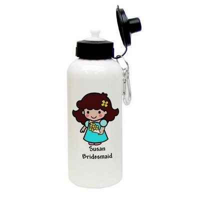 Custom Character Bridesmaid Aluminum Water Bottle