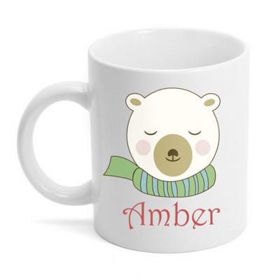 Personalized Polar Bear Holiday Coffee Mug