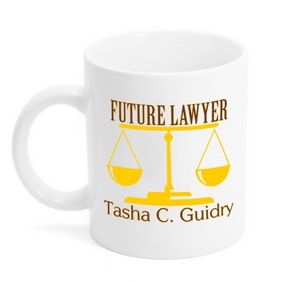 Future Lawyer Scales Mug
