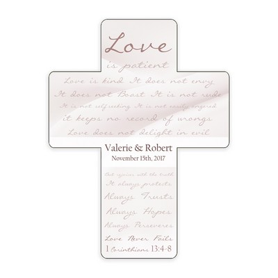 Love is Patient Personalized Wedding Anniversary Wall Cross