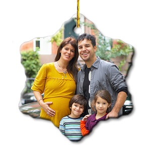 Design Your Own Photo Snowflake Ornament