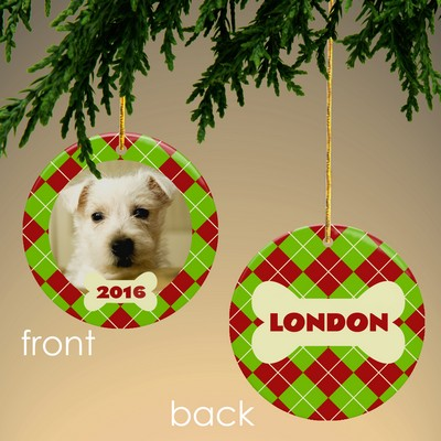 Dog Personalized Photo Ornament