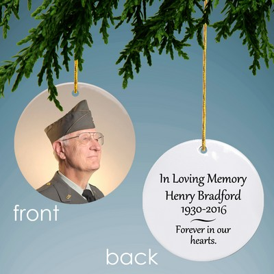 Memorial Personalized Photo Ornament