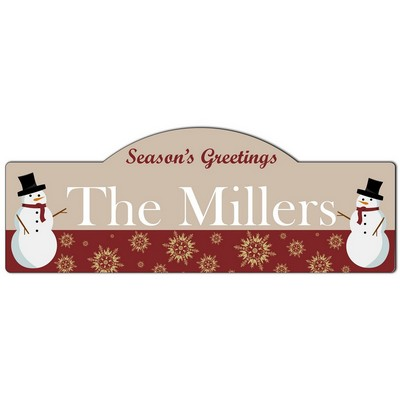 Seasons Greetings Family Name Wall Sign