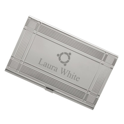 Sleek Logo Business Card Case