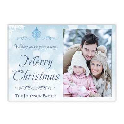 Snow Fall Family Photo Christmas Card