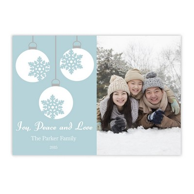Snowflake Ornament Family Photo Holiday Card