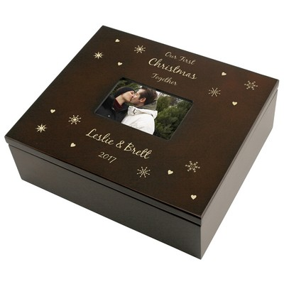 Snowflake Personalized Treasures Keepsake Box