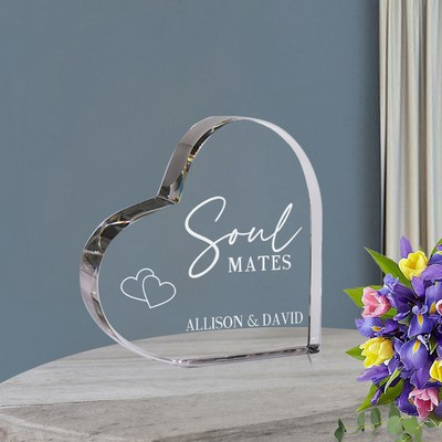 Soul Mates Personalized Heart Crystal Keepsake