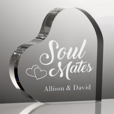 Soul Mates Personalized Heart Acrylic Keepsake