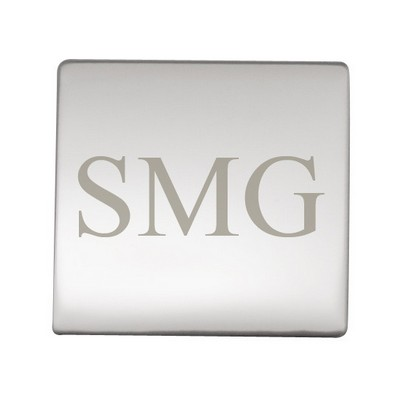 Square Mirror Finish Engraving Plate 1-5/16