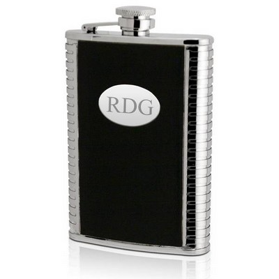 Stainless Steel 8oz Personalized Leather Flask