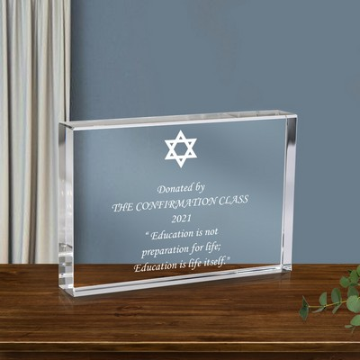 Star of David Crystal Keepsake