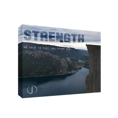Strength 11x14 Personalized Motivational Wall Canvas