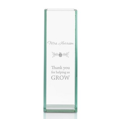 Thank You Teacher Personalized Tall Glass Vase