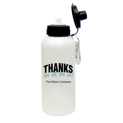 Thanks For All You Do Personalized Aluminum Water bottle