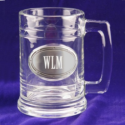 Glass and Pewter Pint Mug