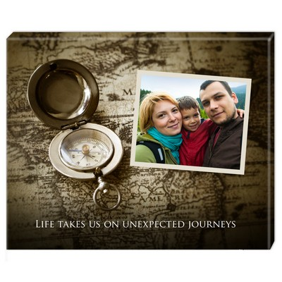 Personalized Travelers Journey Photo Wall Canvas