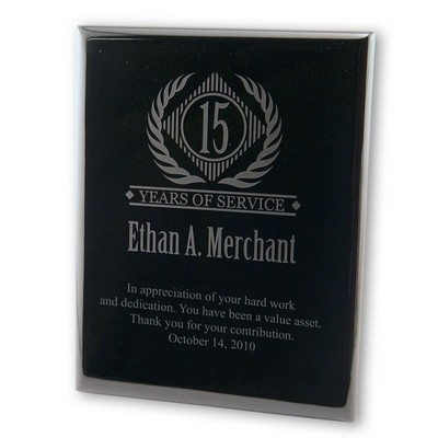 Years of Service Plaque in Black Piano Finish
