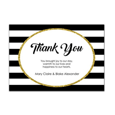 Glam 4x6 Wedding Thank You Card