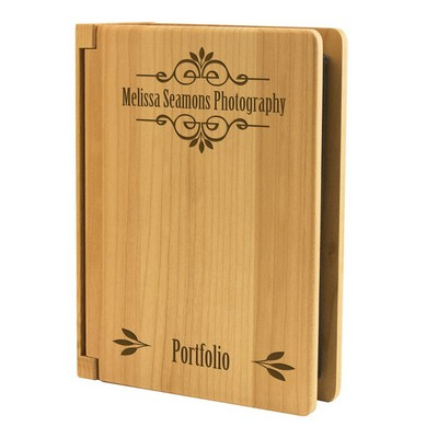 Elegant Classic Scroll Wood Photo Album