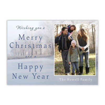 Winter Fall Family Photo Holiday Card