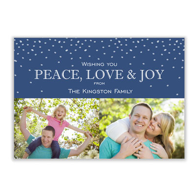 Wishing Peace Family Photo Holiday Card