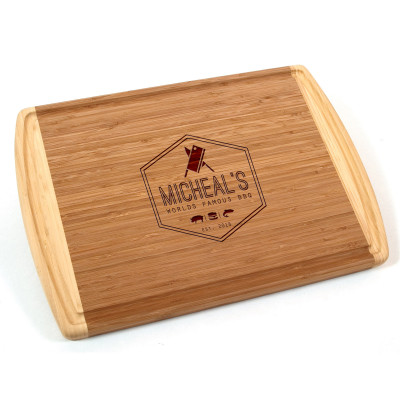 World Famous BBQ Personalized Bamboo Cutting Board