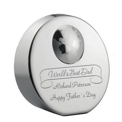 Worlds Best Dad Personalized Paperweight Award