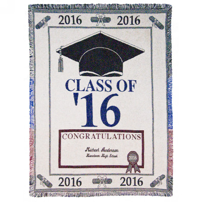 Class of 2015 Personalized Afghan