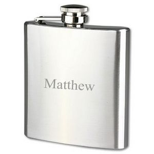 Stainless Steel Polished Chrome Plated 7oz Flask